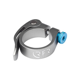 Cube RFR attache de selle   - Collier de selle - 34,9 mm avec dispositif de fixation rapide argent